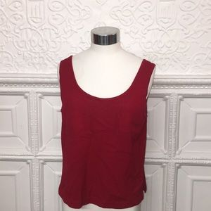 St. John Red Knit Top Sz M